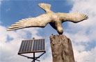 Skulptur mit Solarpanel